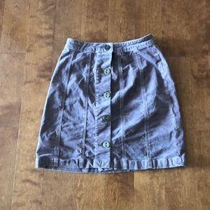 Corduroy button skirt - Anthropologie, size 2